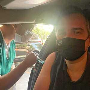Rodrigo Pacheco é vacinado