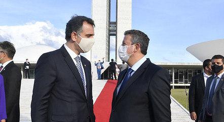 Na imagem, Rodrigo Pacheco e Arthur Lira