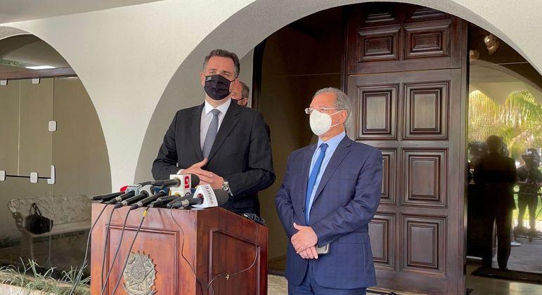 Pacheco e Guedes discutiram solução para PEC dos Precatórios nesta segunda-feira (30/8)