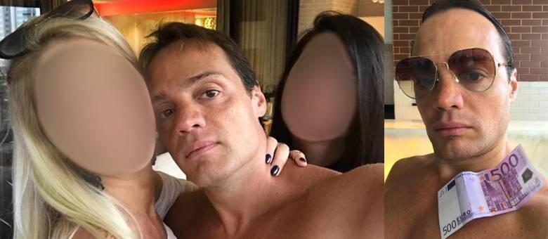 Rodrigo Otavio Cotait em fotos das redes sociais (Reprodução)