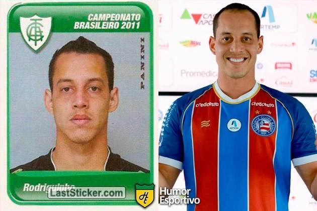 Rodriguinho jogou pelo América-MG em 2011. Inicia o Brasileirão 2021 com 33 anos e jogando pelo Bahia.
