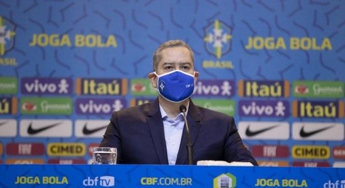 O presidente da CBF, Rogério Caboclo