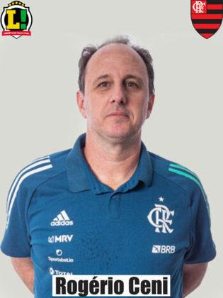 Rogério Ceni - 5,0 - Situação cada vez mais difícil do treinador. Mesmo com a volta de alguns jogadores, viu o Flamengo fazer mais uma partida abaixo e não conseguiu achar soluções para melhorar o desempenho. Escolha por Bruno Viana se mostrou muito errada.