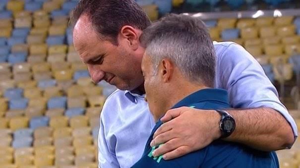 Rogério Ceni e Domènec. O ex-técnico do Fortaleza conhece muito bem o Flamengo