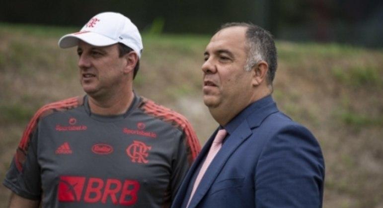 Rogério Ceni e Marcos Braz - Flamengo
