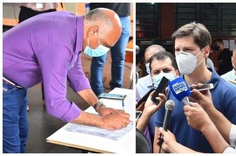 Rogério Cruz e Daniel Vilela votam em Goiânia