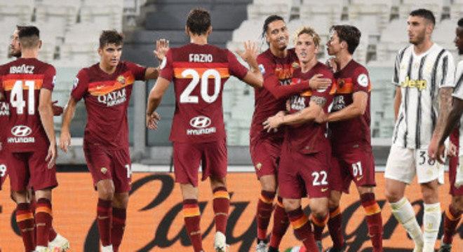 Roma, mais uma sapecada nas faixas do enea da Juventus