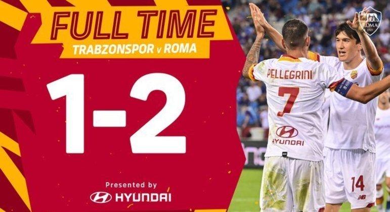 Roma, um sucesso excelente na Turquia do Trabzanspor