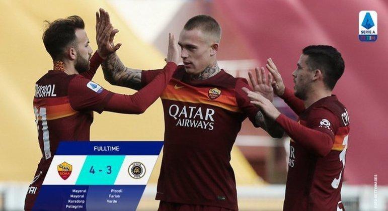 No seu Olímpico, diante do Spezia, a Roma sobrevive no sufoco
