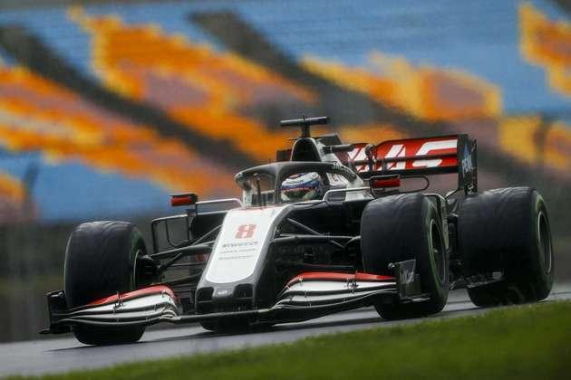 Romain Grosjean amargou o 18º lugar .