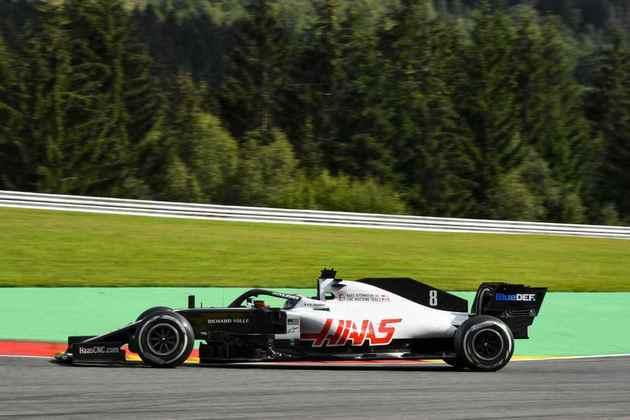Romain Grosjean em ação durante o GP da Bélgica