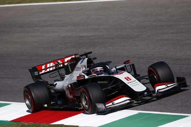 Romain Grosjean em ação no acidentado GP da Toscana