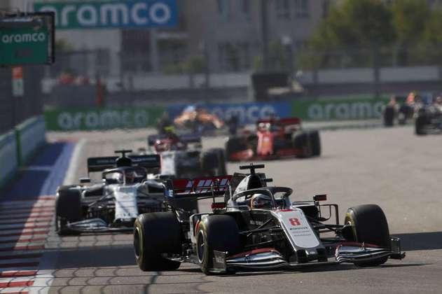 Romain Grosjean ficou em 17º no GP da Rússia
