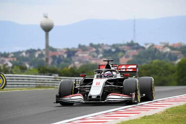 Romain Grosjean foi o 8º colocado no segundo treino livre
