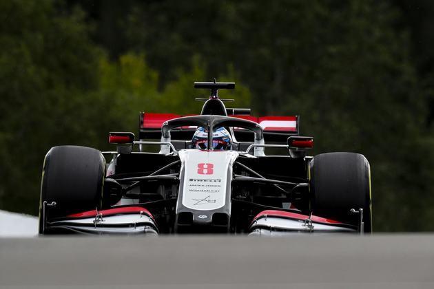 Romain Grosjean larga em 17º (Foto: Haas)