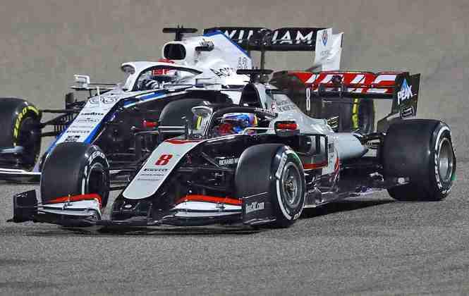 Romain Grosjean largou na 19ª colocação no GP do Bahrein.
