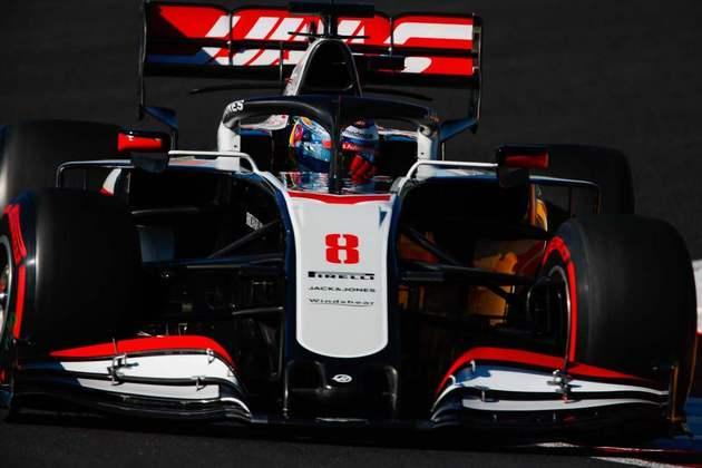 Romain Grosjean marcou 1min18s364 e ficou pelo caminho na classificação mais uma vez