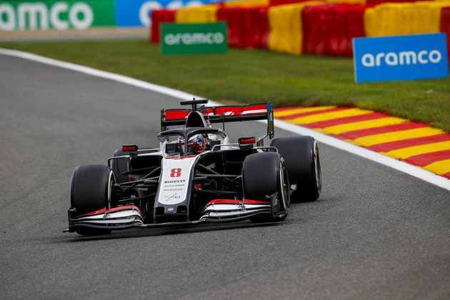 Romain Grosjean teve dificuldades com o carro no circuito belga