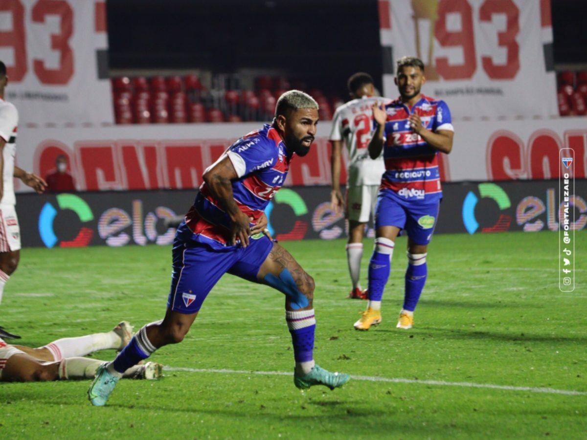 Romarinho marcou o gol de empate do Fortaleza. Erro de Volpi mudou a partida