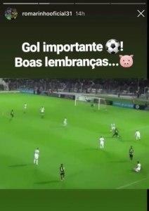 Romarinho provocou o Palmeiras mais uma vez