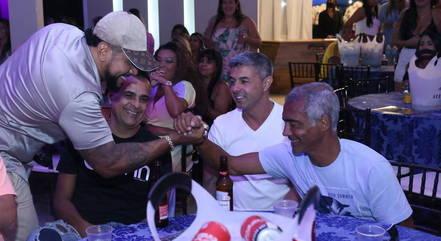Romário curtiu show de Naldo