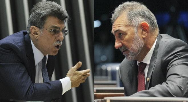 Romero Jucá e Telmário Mota discutiram durante sabatina no Senado