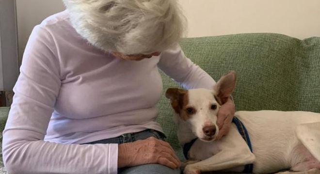 A tutora, de 83 anos, encontra Romeu pela primeira vez