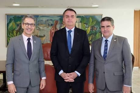 Zema, Bolsonaro e Brant se reuniram durante a tarde