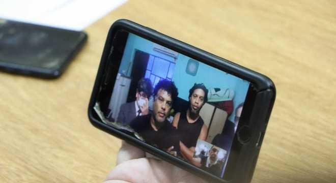 Ronaldinho participou de julgamento através de videoconferência