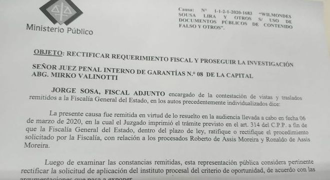 A acusação formal do Ministério Público paraguaio contra Ronaldinho