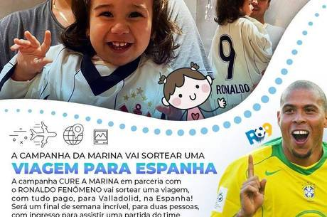 Ronaldo participa da campanha #curemarina