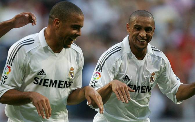 Ronaldo Fenômeno e Roberto Carlos: jogaram juntos no Real Madrid e no Corinthians.