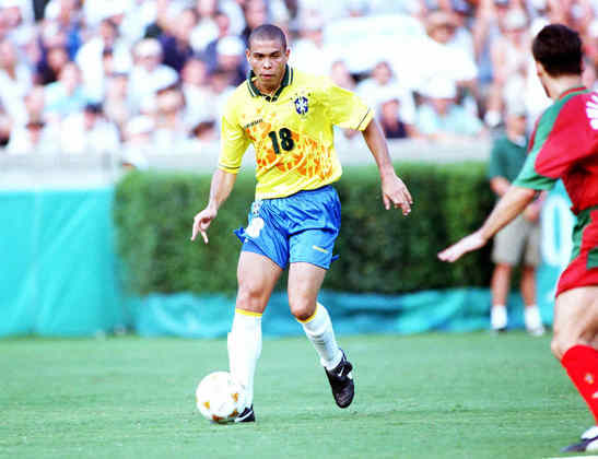Ronaldo marcou cinco vezes em Atlanta. O Brasil ficou com o bronze. O Fenômeno era atleta do PSV, da Holanda.