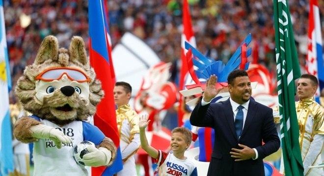 Ronaldo Fenômeno foi uma das estrelas da abertura da Copa do Mundo