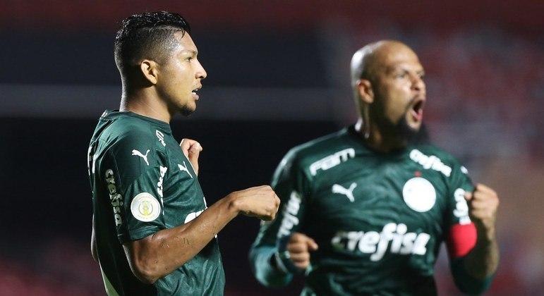 A alegria de Felipe Melo, no gol de Rony, que tirou a chance de o São Paulos ser campeão