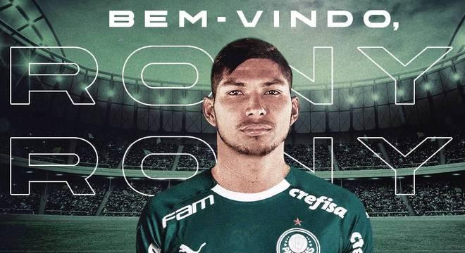 O Palmeiras acaba de divulgar a contratação de Rony. Jogador que não contava