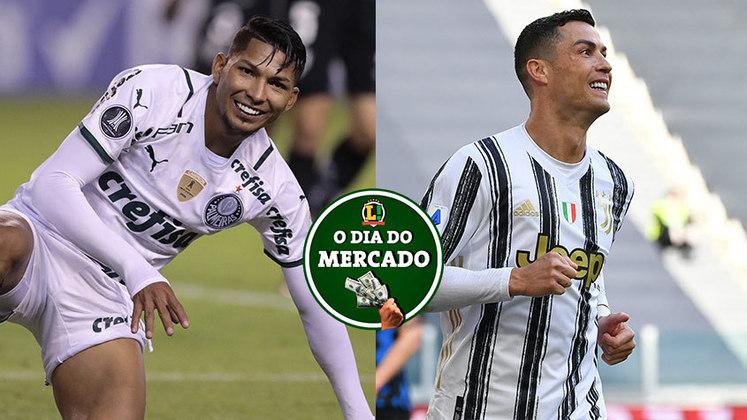 Rony fica próximo de acertar o seu futuro no Palmeiras e saber se ficará ou não no Alviverde. Cristiano Ronaldo pode deixar a Juventus ao final da temporada e retornar para ex-clube. Tudo isso e muito mais no Dia do Mercado de sexta-feira (21)