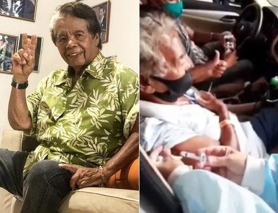 O assistente de palco de Silvio Santos e diretor de auditório Gonçalo Roque, de 83 anos, foi vacinado no dia 3 de março em São Paulo e gravou um vídeo mostrando o momento. Animado, ele é reconhecido por enfermeiras. Veja o vídeo