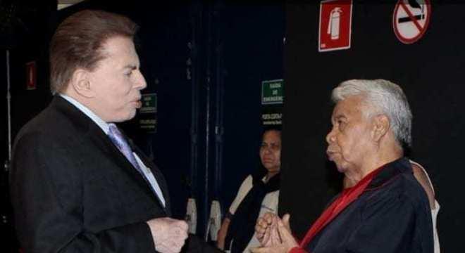 Silvio e Roque sempre conversam antes das gravações do 'Programa Silvio Santos'