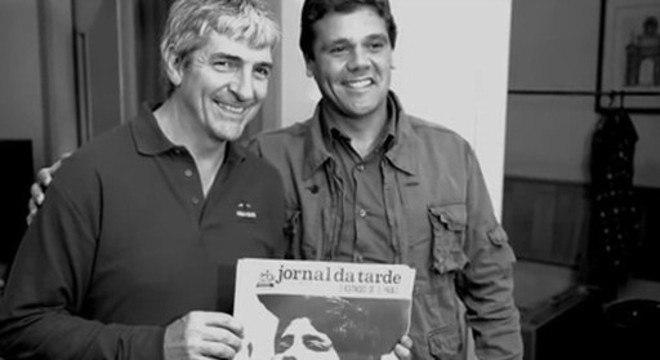 Rossi, em 2013, com José Carlos Villella Júnior. O menino que fez chorar em 82