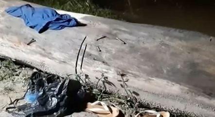Objetos foram deixados perto do lago