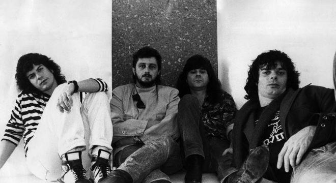 Paulo Ricardo e Schiavon (os dois à esquerda) junto com o RPM nos anos 80