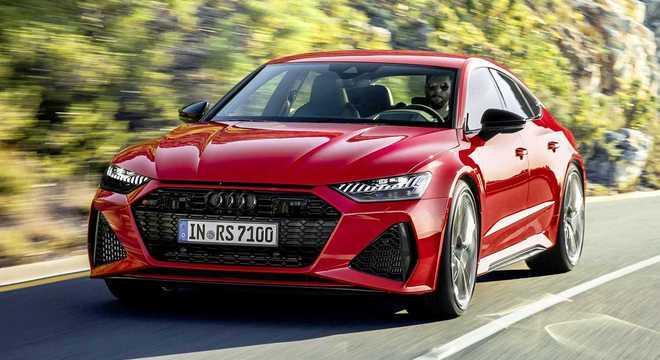 Audi RS 7 Sportback tem motor de 600cv com visual arrojado ao novo estilo dos modelos da marca