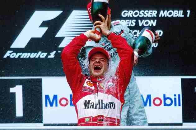 Rubens Barrichello disputou 124 corridas até vencer o GP da Alemanha de 2000