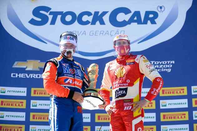 Rubens Barrichello e Ricardo Zonta, os vencedores do domingo
