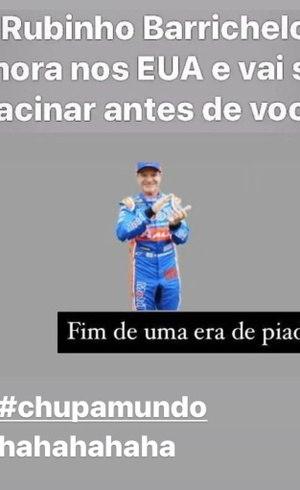 Publicação de Rubens Barrichello
