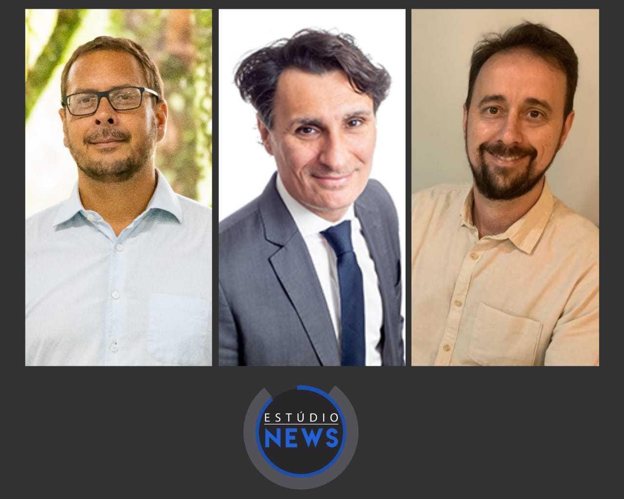 Rubens Benini, André Nassar, Adiéliton Galvão de Freitas