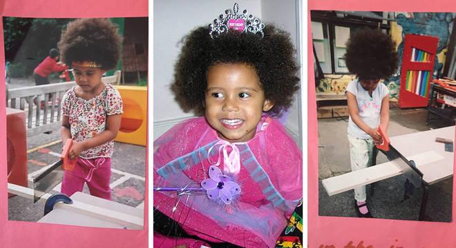 Desde pequena, a família de Ruby mantinha o cabelo da jovem no estilo natural