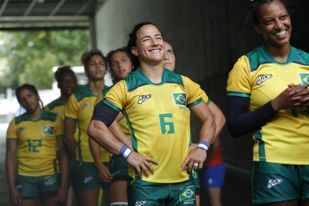RÚGBI FEMININO - Na despedida dos Jogos Olímpicos de Tóquio, a Seleção Brasileira feminina de rúgbi venceu sua primeira partida na competição. As