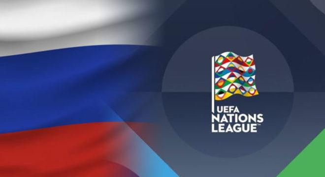 A capa do site da seleção da Rússia